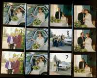 wedding contact sheet B
