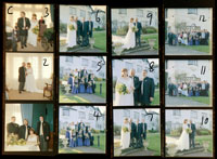 wedding contact sheet C